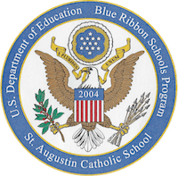 St. Augustin Blue Ribbon seal